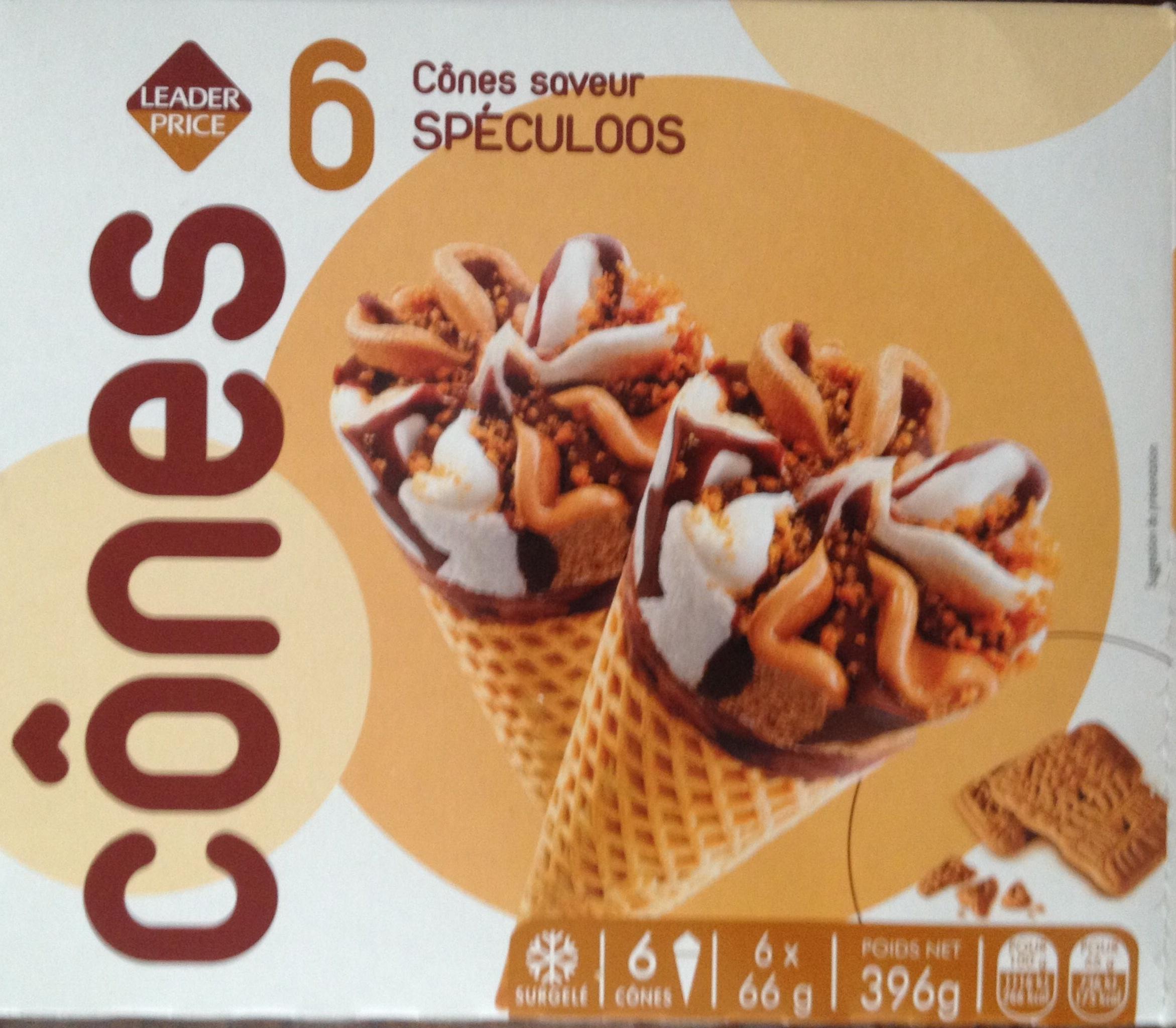 6 cônes saveur spéculoos - Produit - fr
