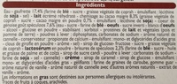 6 cônes saveur spéculoos - Ingrédients - fr