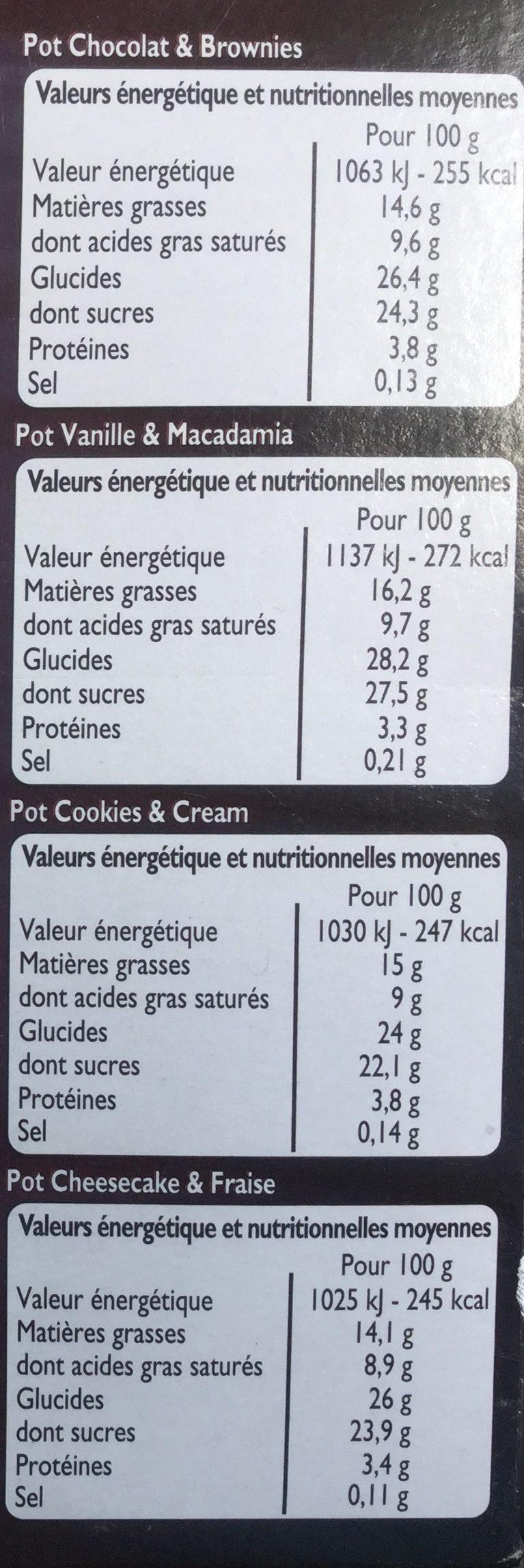 Xtra savoureux - Informations nutritionnelles