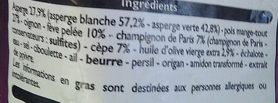 poêlée d asperges - Ingrédients - fr