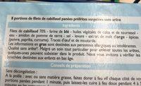 Cabillaud - Ingrédients - fr