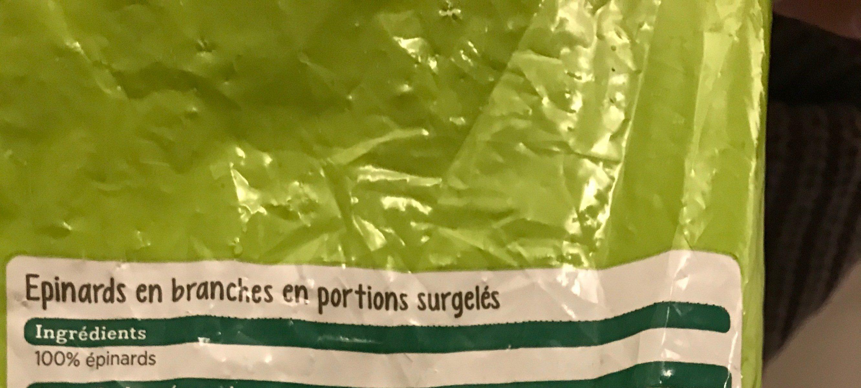 Épinards en branche - Ingredienti - fr