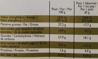 Xtra Savoureux Chocolat & Pâte de Cacahuète - Informations nutritionnelles - fr