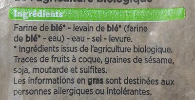 La demi-baguette Signature - Ingredienti - fr
