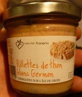 Rillettes de Thon Blanc Germon - Product - fr