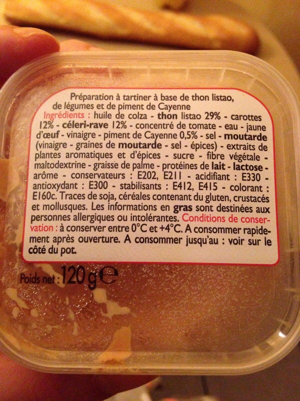Thon piquant - Ingredients - fr