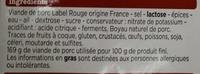 Saucisse sèche - Ingrédients - fr