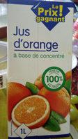 Jus d'orange à base de concentré - Product