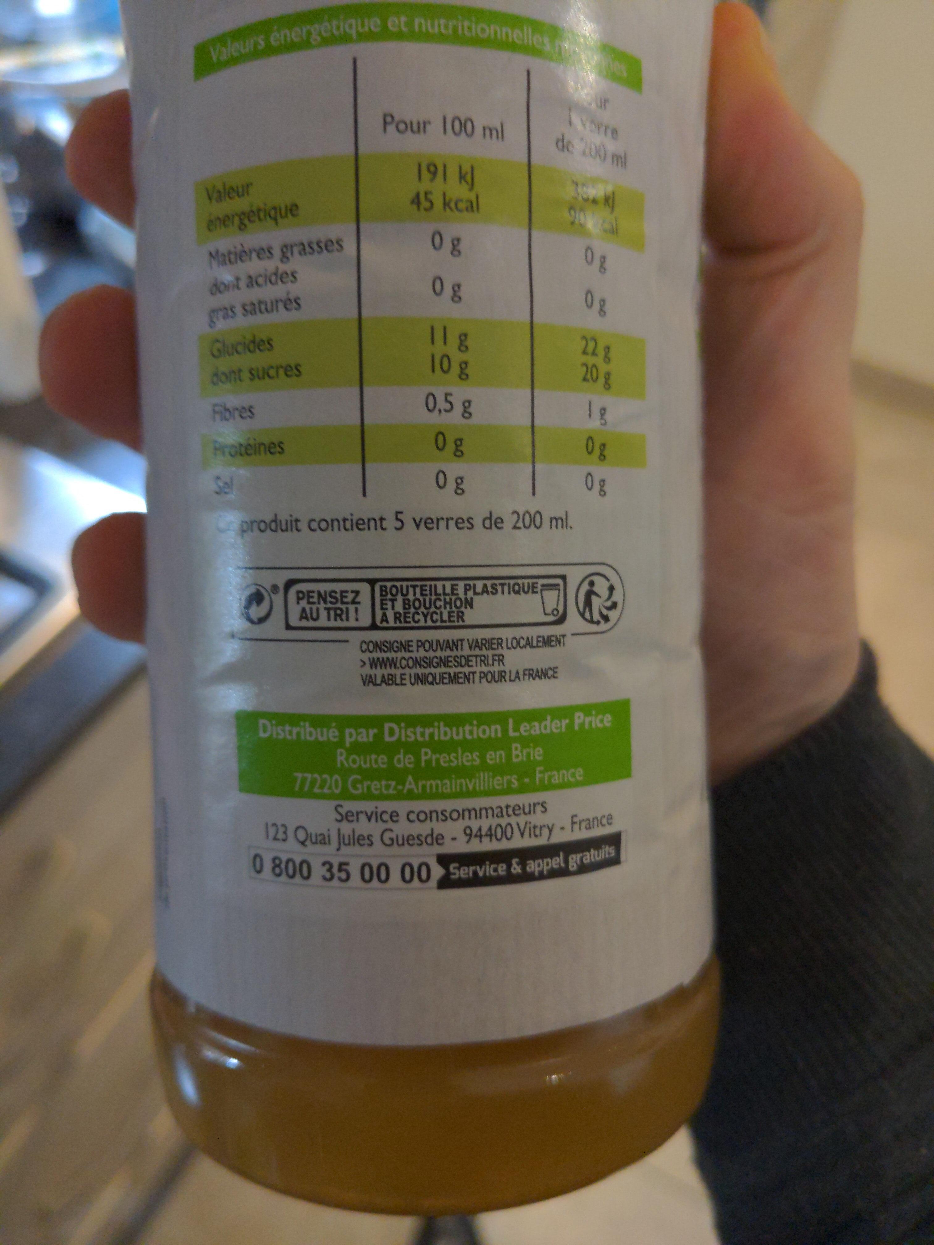 Jus de pomme - Istruzioni per il riciclaggio e/o informazioni sull'imballaggio - fr