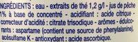 Thé glacé saveur pêche - Ingrédients - fr