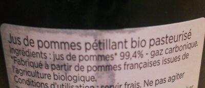 Jus de pomme pétillant - Ingrédients - fr
