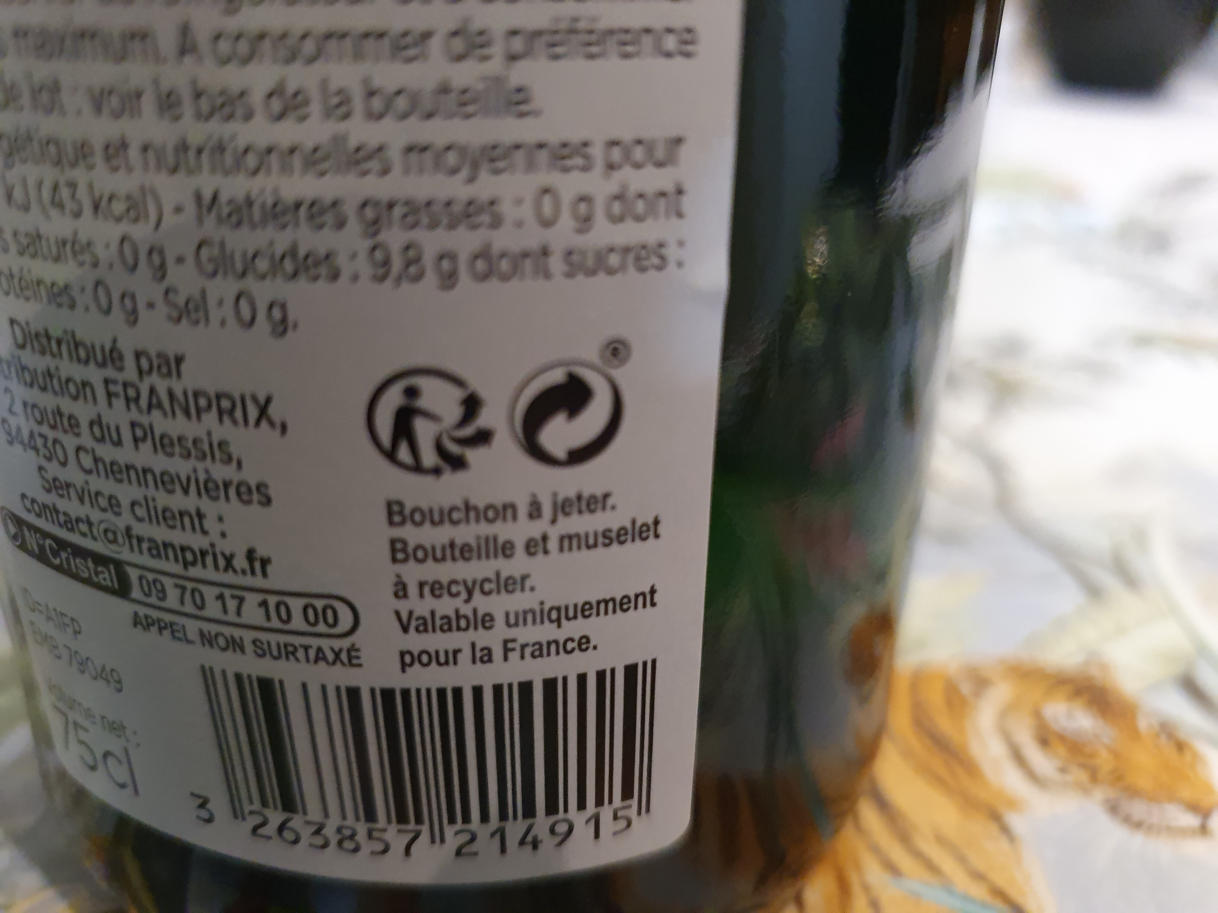 Jus de pomme pétillant - Instruction de recyclage et/ou informations d'emballage - fr