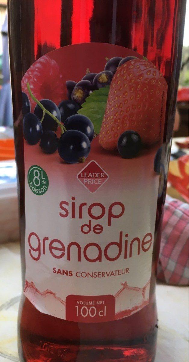 Sirop de Grenadine - Produit