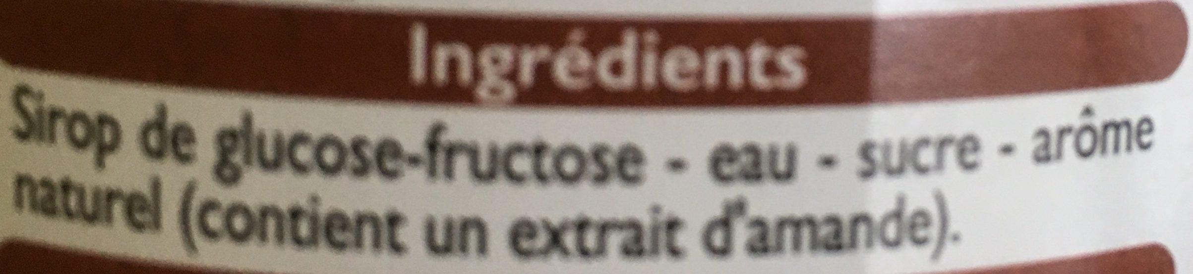 Sirop d'orgeat - Ingredienti - fr