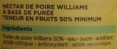 Le nectar de poire - Ingredienti - fr