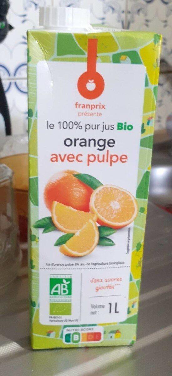 100% pur jus Bio orange avec pulpe - Prodotto - fr