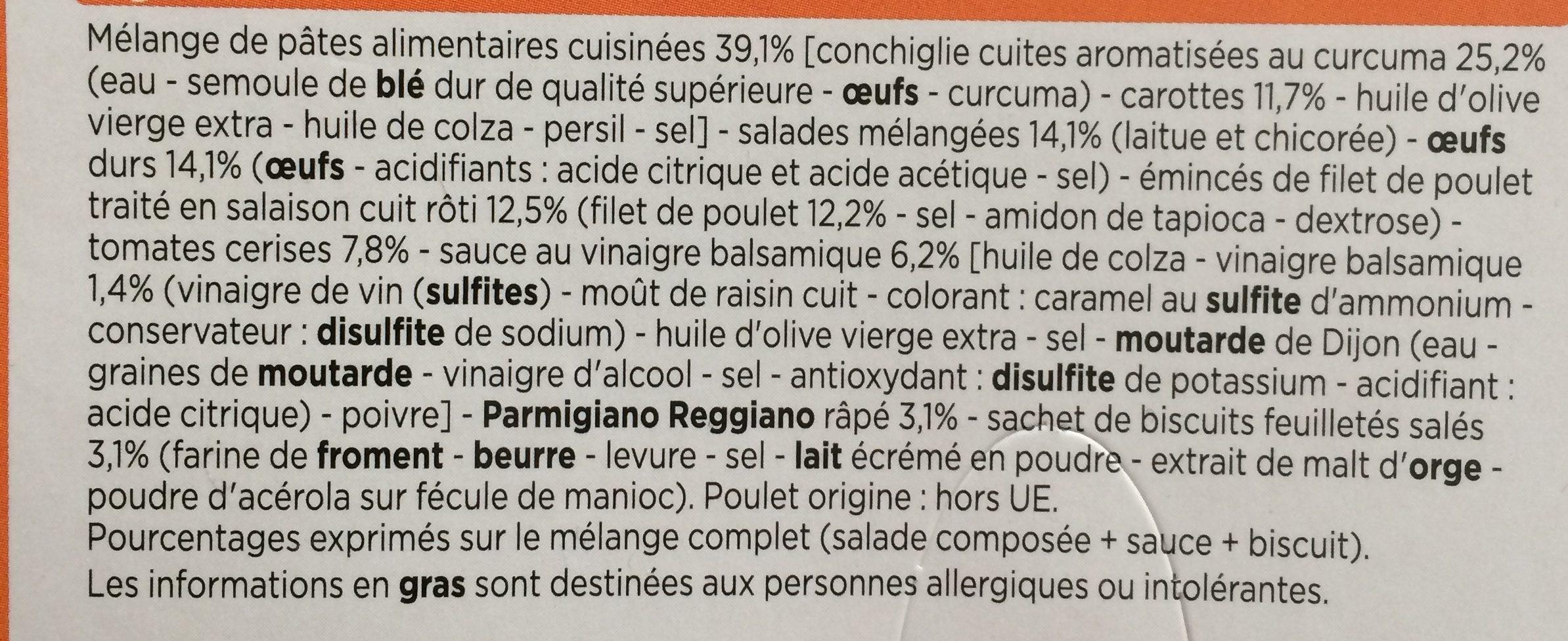 Salade Œuf, Poulet, Parmesan - Ingrédients - fr