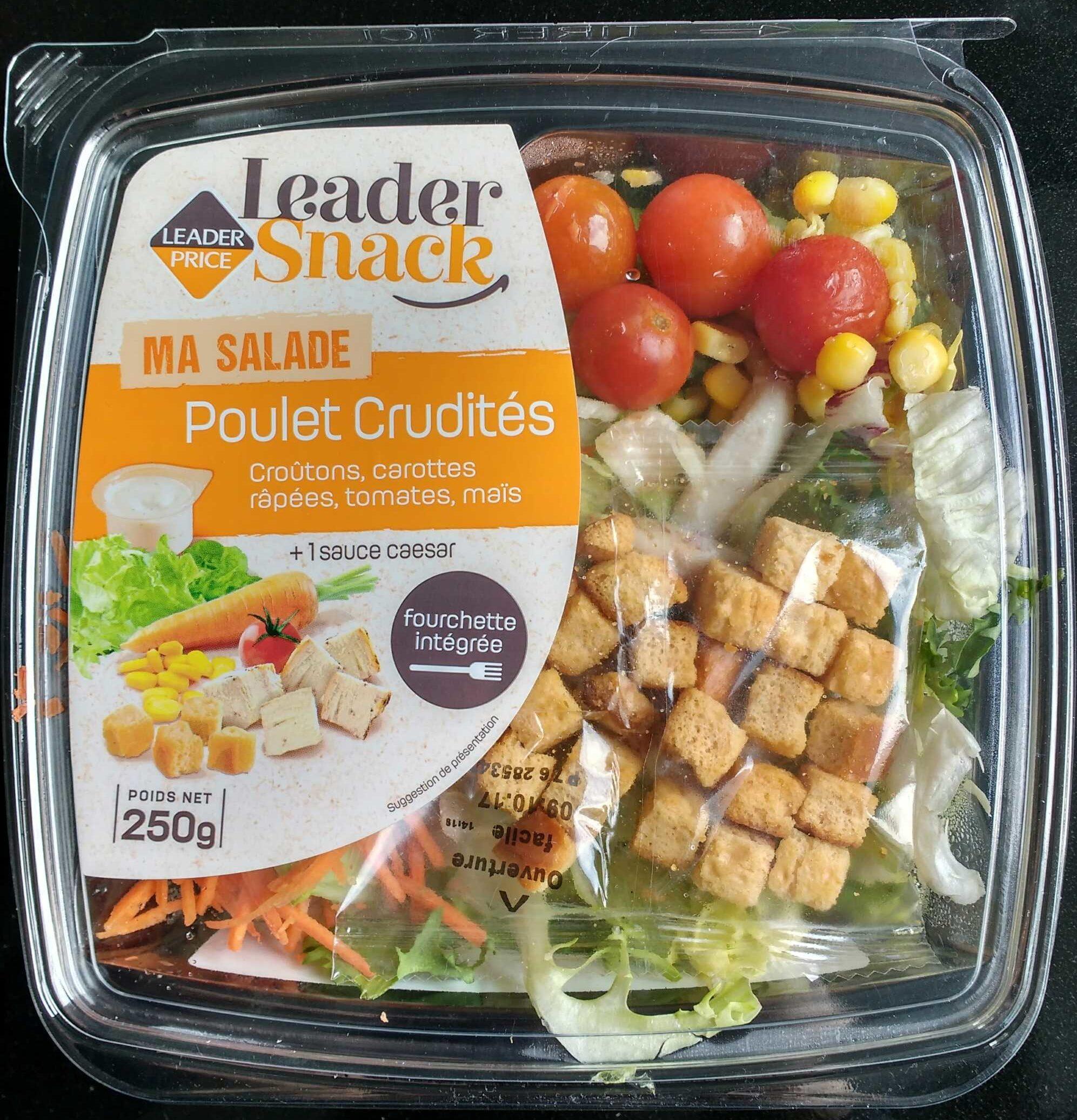 Salade poulet crudités - Produit - fr