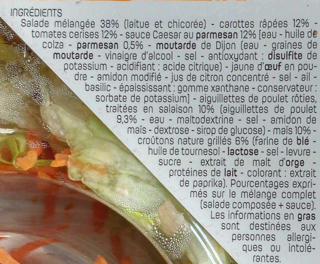 Salade poulet crudités - Ingrédients - fr