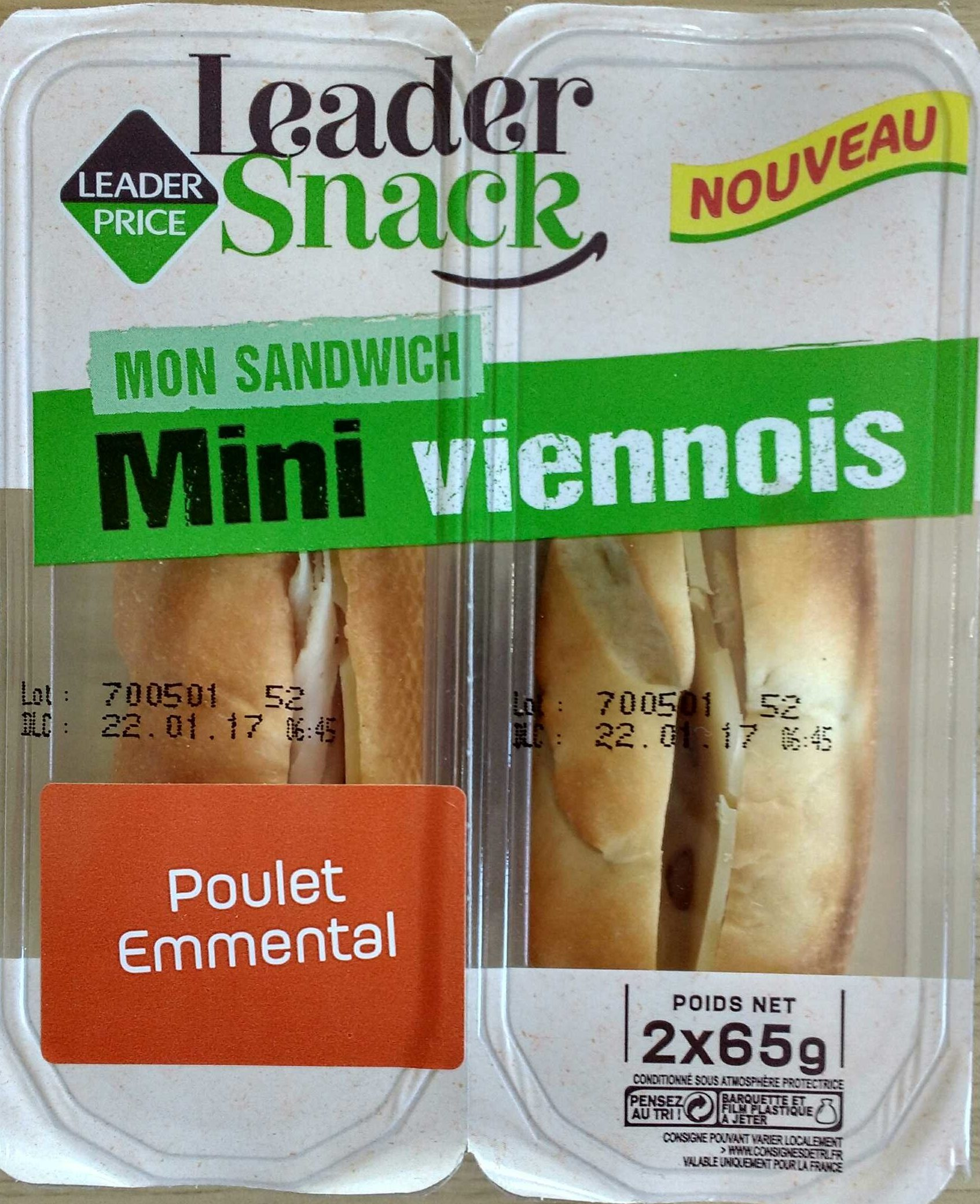 Mini viennois - Poulet emmental - Product