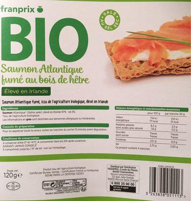 Saumon Atlantique fumé au bois de hetre - Product