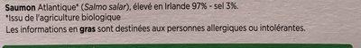 Saumon Atlantique fumé au bois de hetre - Ingredients