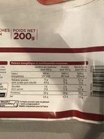 Assortiment jambon sec, rosette et bacon fumé - Informations nutritionnelles - fr