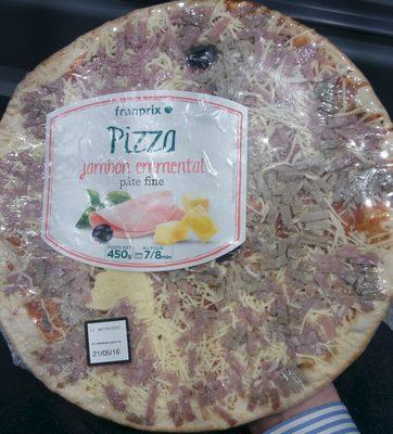 Pizza Jambon Emmental Pâte Fine - Produit - fr