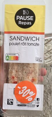 Sandwich poulet rôto tomate - Prodotto - fr