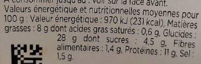 Sandwich poulet indien - Voedingswaarden - fr