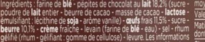 Gâche aux Pépites de Chocolat - Ingredients