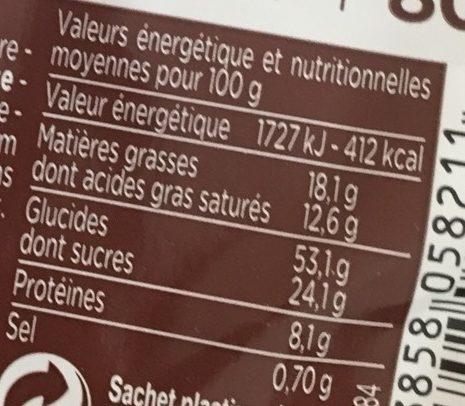Gâche aux Pépites de Chocolat - Nutrition facts