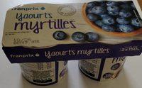 yaourt gourmand à la myrtille - Produit - fr