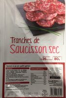 Tranches de saucisson sec - Prodotto - fr