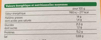 nuggets veggie blé oignon - Valori nutrizionali - fr