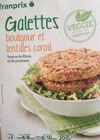 Galettes Boulgour et Lentilles Corail - Product - fr