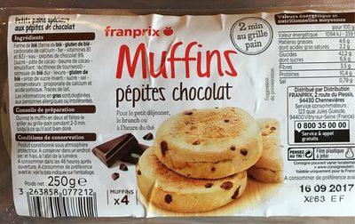 Muffins pépites chocolat - Produit - fr