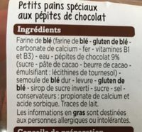 Muffins pépites chocolat - Ingrédients - fr