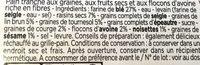 Pain tranché au muesli - Ingrédients - fr