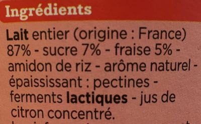 Yaourt a boire - Ingredients