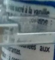 Yaourt Brebis Vanille - Ingredients - fr
