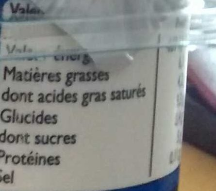 Yaourt Brebis Vanille - Nutrition facts - fr
