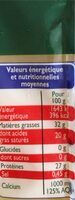 Emmental grand cru - Informations nutritionnelles - fr