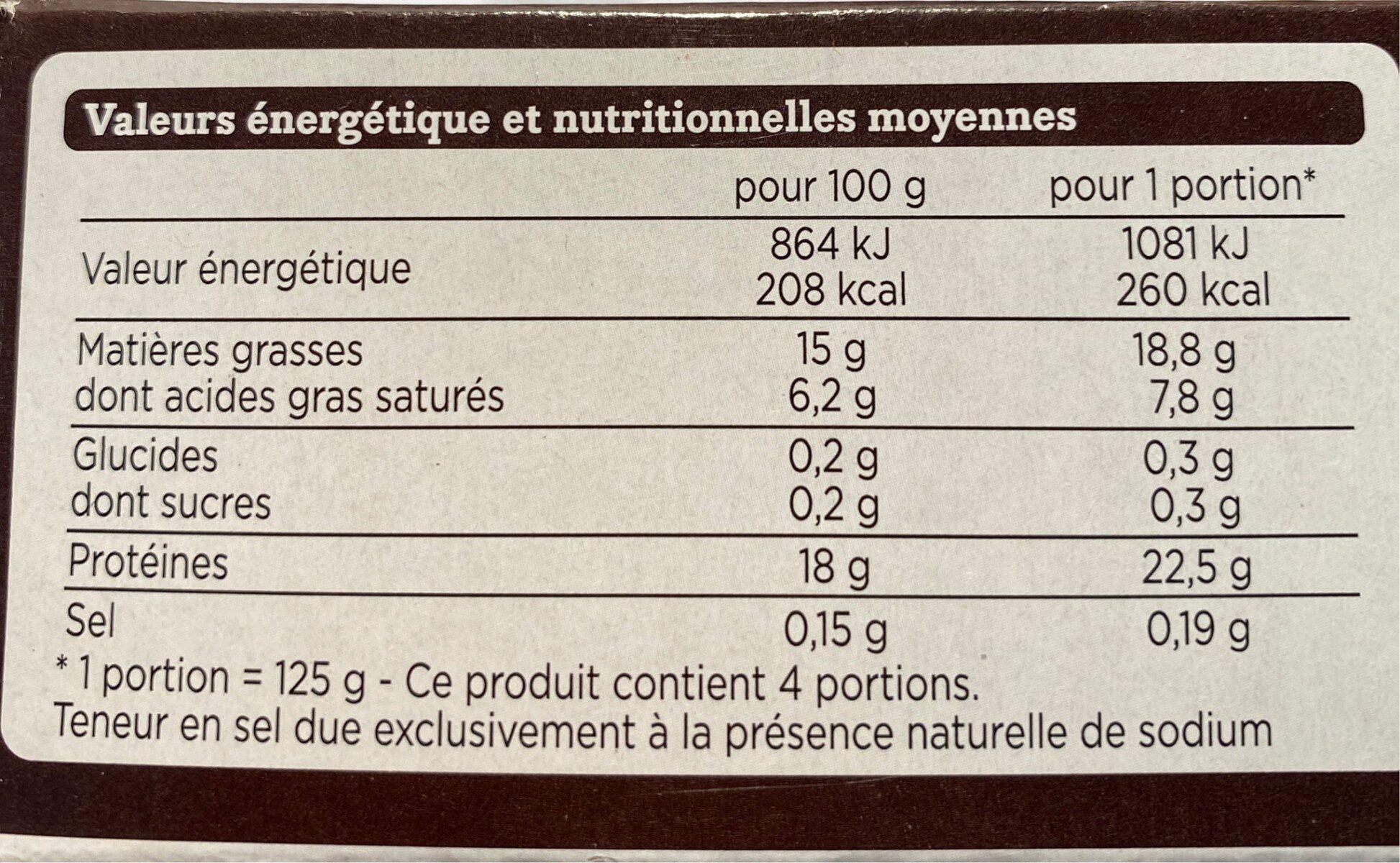 Steaks hachés pur bœuf façon bouchère - Informations nutritionnelles - fr