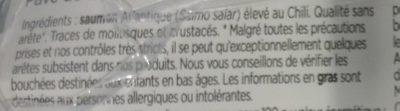 Pavés de Saumon - Ingrediënten - fr