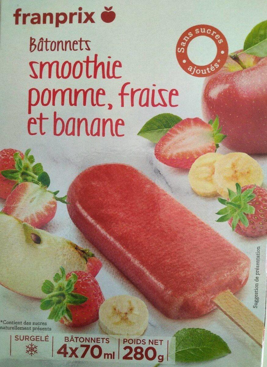 Bâtonnets Smoothie pomme, fraise et banane - Produit - fr