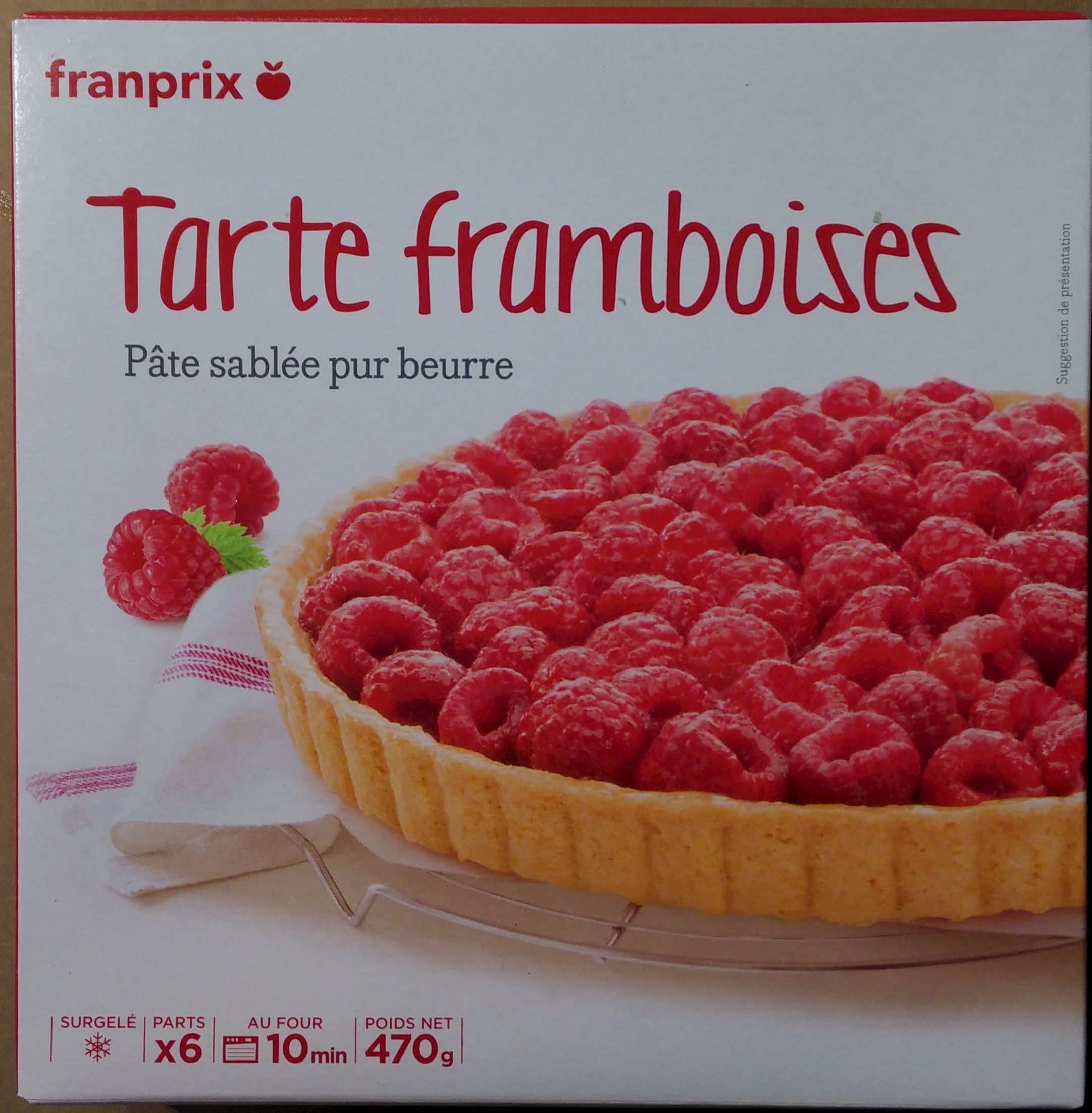 tarte framboises p te sabl e pur beurre franprix 470 g. Black Bedroom Furniture Sets. Home Design Ideas