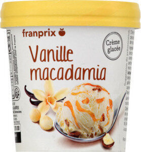 Glace vanille noix de macadamia - Prodotto - fr