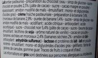 Crème Glacée Chocolat Noir, Sauce Chocolat et Morceaux de Banane - Ingrédients - fr