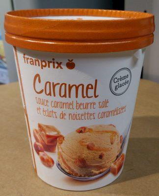 cr 232 me glac 233 e caramel sauce caramel beurre sal 233 et 201 clats de noisettes caram 233 lis 233 es franprix